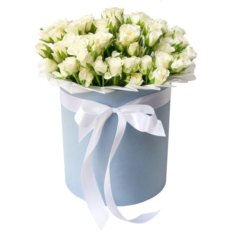 Flowers-Box 19 spray white roses