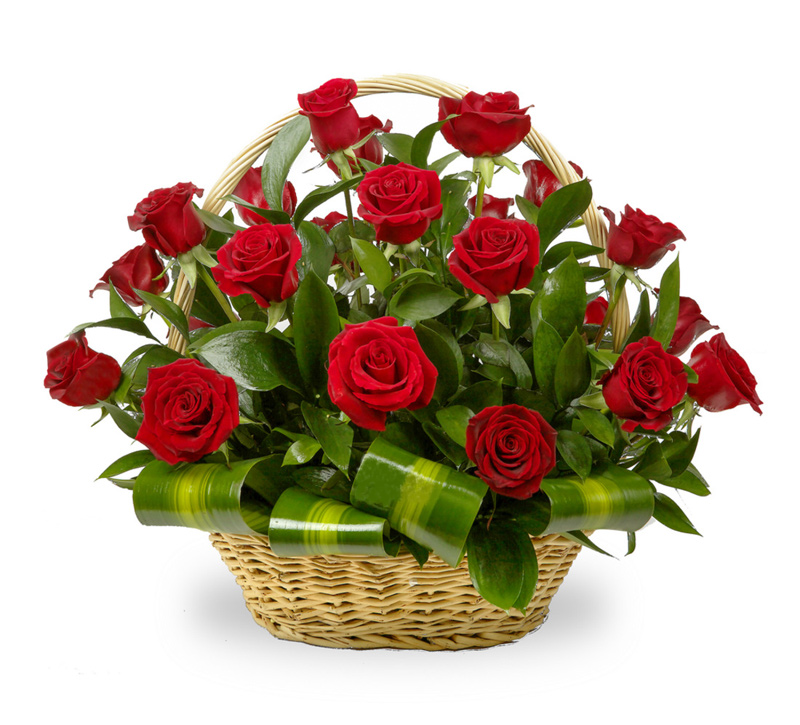 Basket 31 red roses
