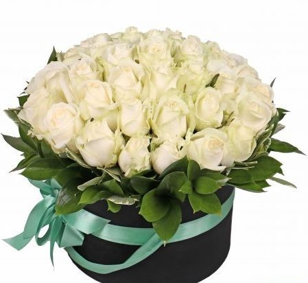 Flowers-Box 25 white roses