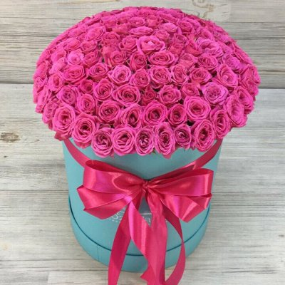 Flowers-Box Rose Aqua 45 pcs.